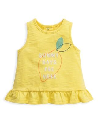 Frill Vest Lemon