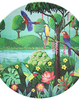 Tommy Lise Bamboo plate - Bird Paradise
