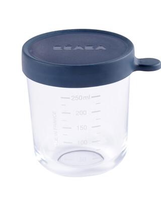 Beaba Conservation Jar Glass 250ml Dark Blue