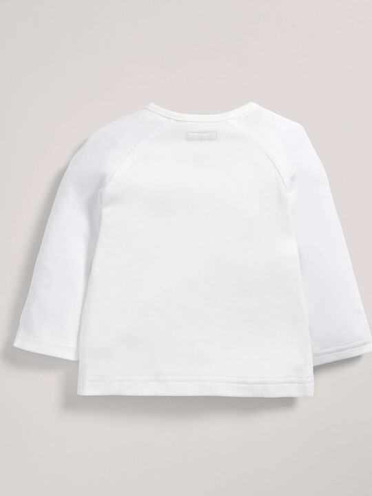 Bamboo Fabric Wrap Top White- New Born image number 2