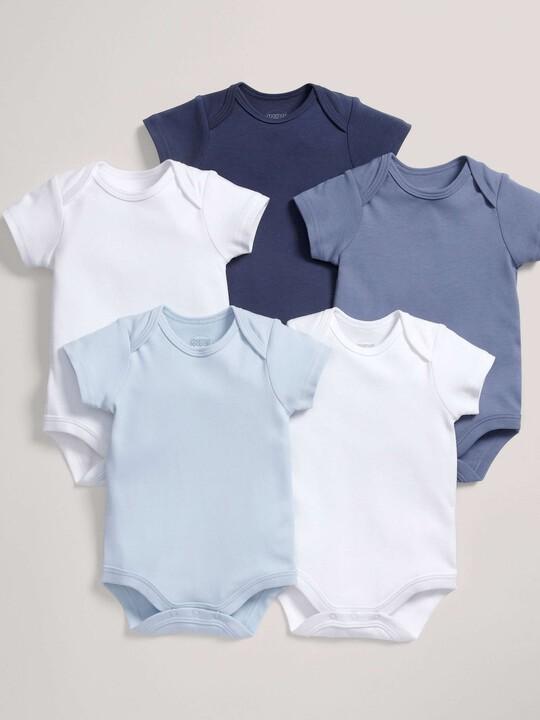 5 pack Mix Short Sleeve Bodysuits Blue- 12-18 months image number 1