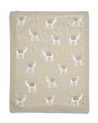 Knitted Blanket (70x90cm) - Sand Multicolor Camel