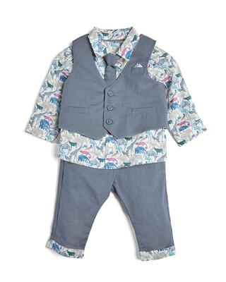 4 Piece Liberty Shirt & Waistcoat Set