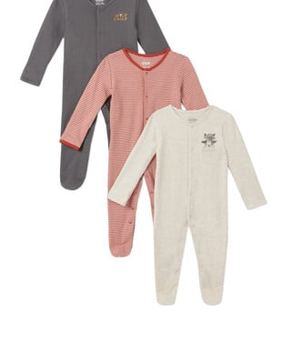 3Pack of  WILD Sleepsuits