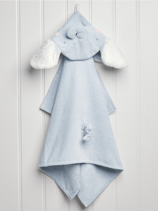 Hooded Towel - Elephant Blue image number 2