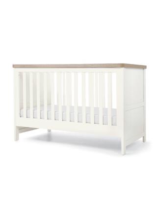 Keswick Baby Cot Bed White Oak
