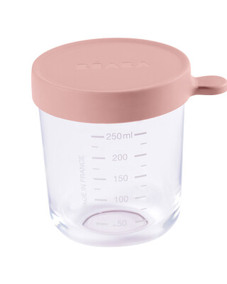 Beaba Conservation Jar Glass 250ml Old Pink