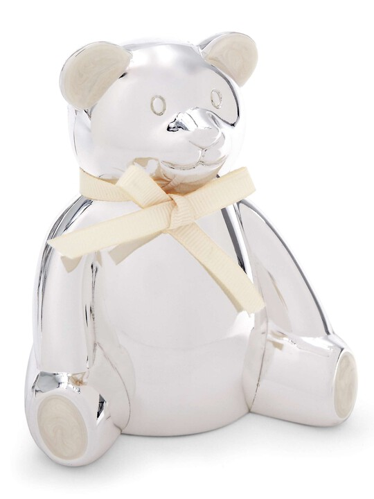 Silver Plated Bear Money Box image number 2