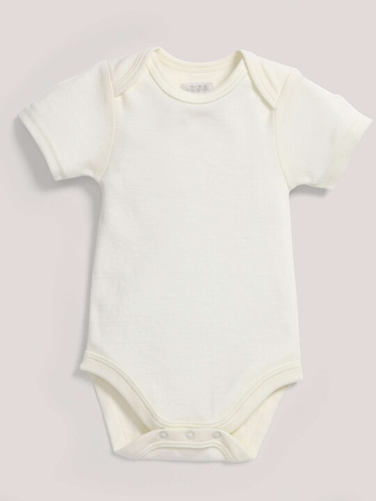 Merino Wool Bodysuit Cream- New Born image number 1