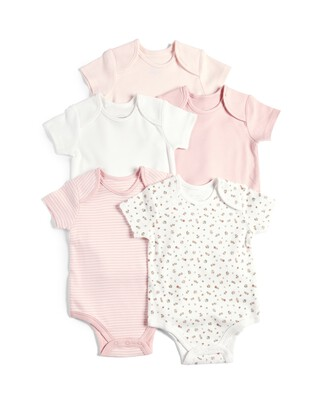 5 Pack Bodysuits Pink