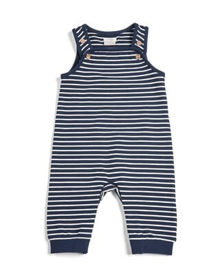 Striped Sweat Dungarees