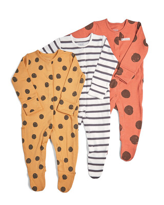 3 Pack of Large Spot Sleepsuits