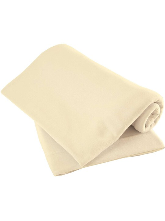 Cream Pack of Two Fitted Sheets - Cotbed image number 1