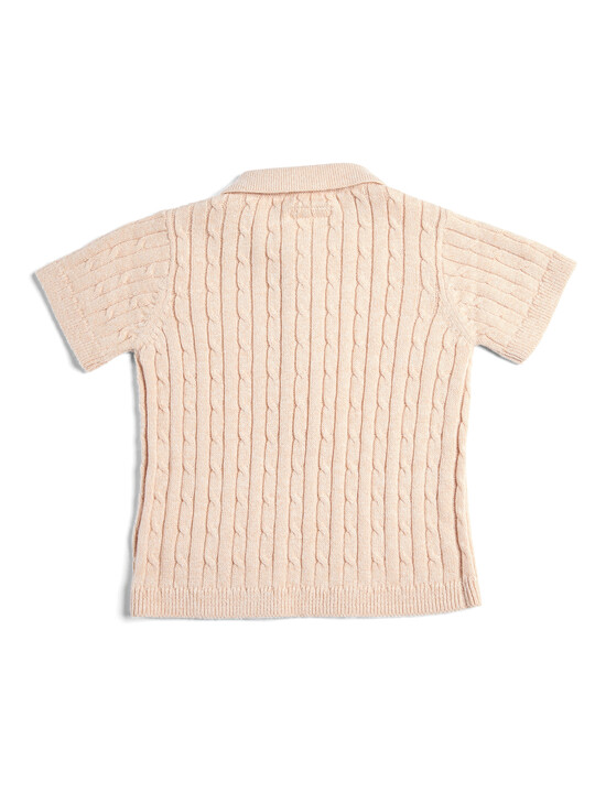 Knitted Short Sleeve Polo image number 2