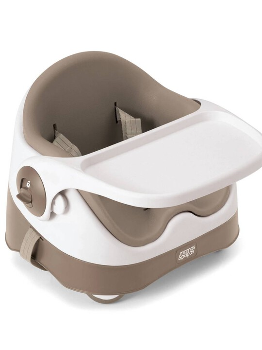 Baby Bud Booster Seat for Dining Table with Detachable Tray - Putty image number 2