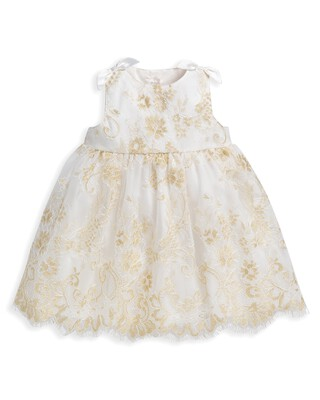 Lace Scalloped Hem Dress