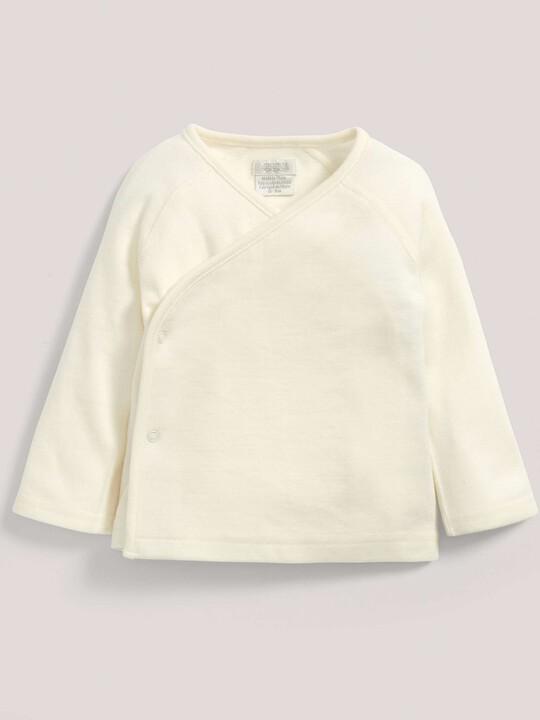 Merino Wool Wrap Top Cream- New Born image number 1