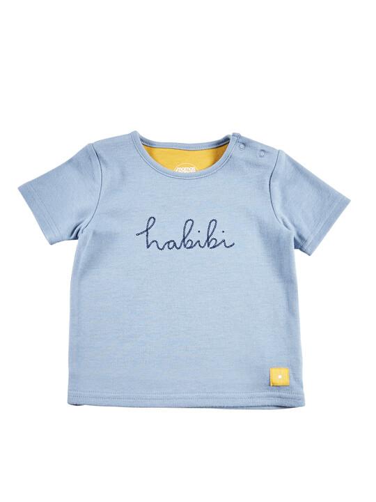 Blue Slogan T-Shirt image number 1
