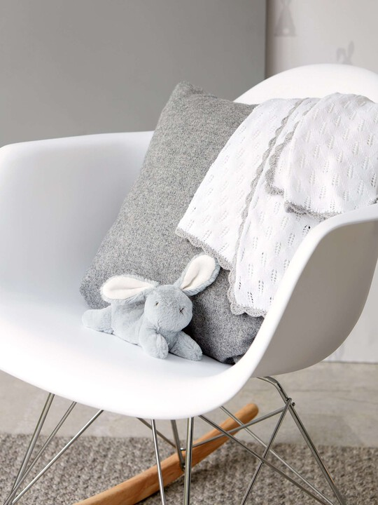 Pointelle Knitted Blanket - Welcome to the World - 70 x 90cm image number 3