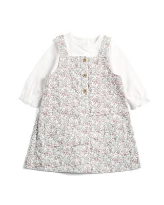 Floral Pinny Dress & Top Set