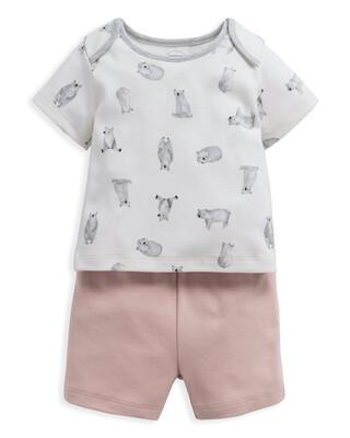 Bear Jersey Short Pyjamas