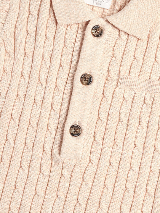 Knitted Short Sleeve Polo image number 3