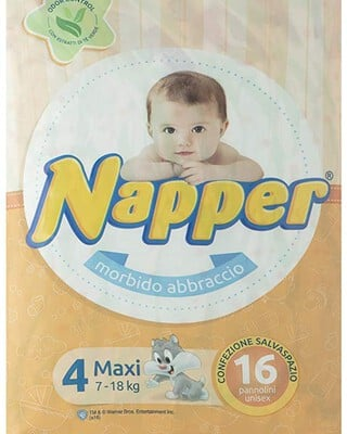 Napper Diapers Soft Hug Parmon From 7Kg-18Kg, 16 Diapers