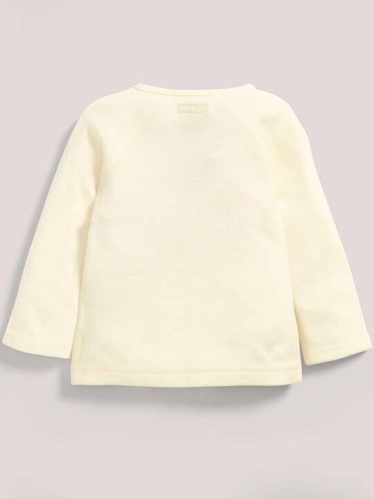 Merino Wool Wrap Top Cream- New Born image number 2