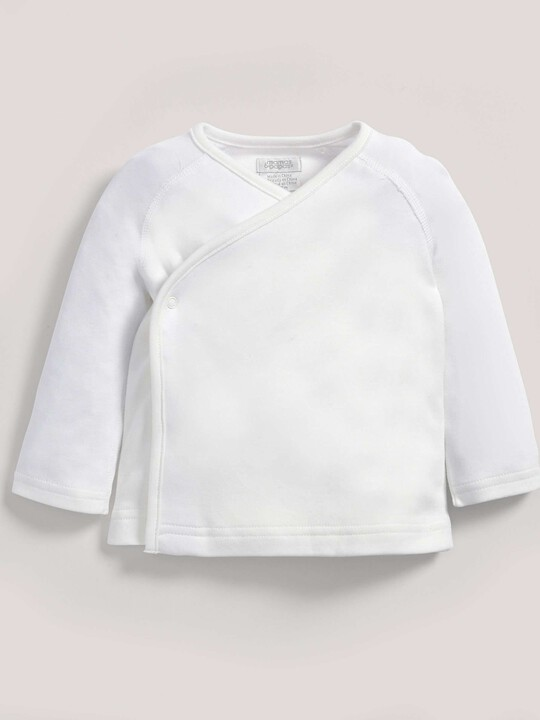 Bamboo Fabric Wrap Top White- New Born image number 1