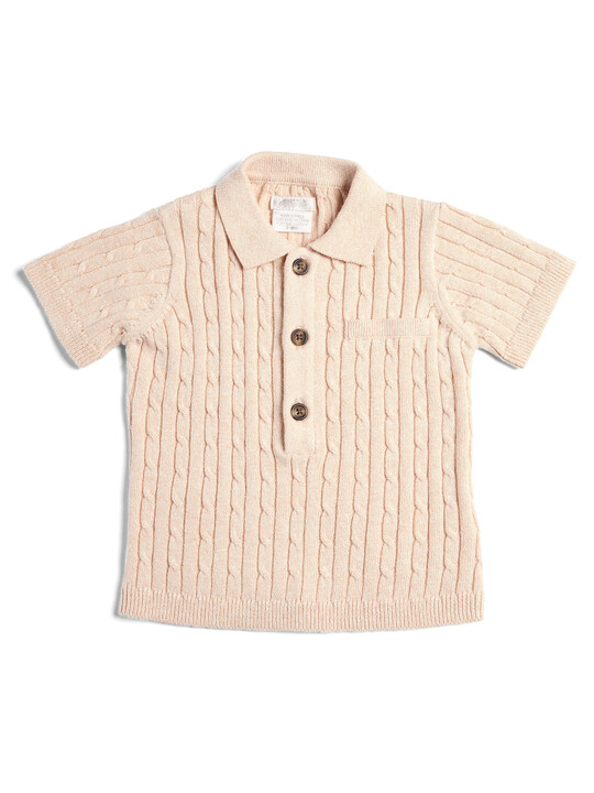 Knitted Short Sleeve Polo image number 1
