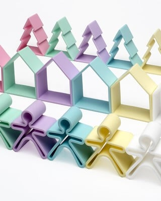 Dena 6 Kids + 6 Houses + 6 Trees Pastel
