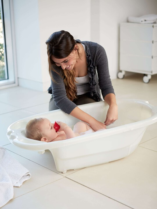 Acqua Bambino Two Stage Bath  - Pearl White image number 3