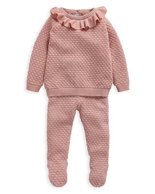 Pink Knitted 2 Piece Set