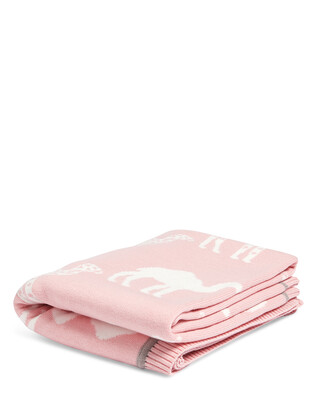 Knitted Blanket (70x90cm) - Pink Camel