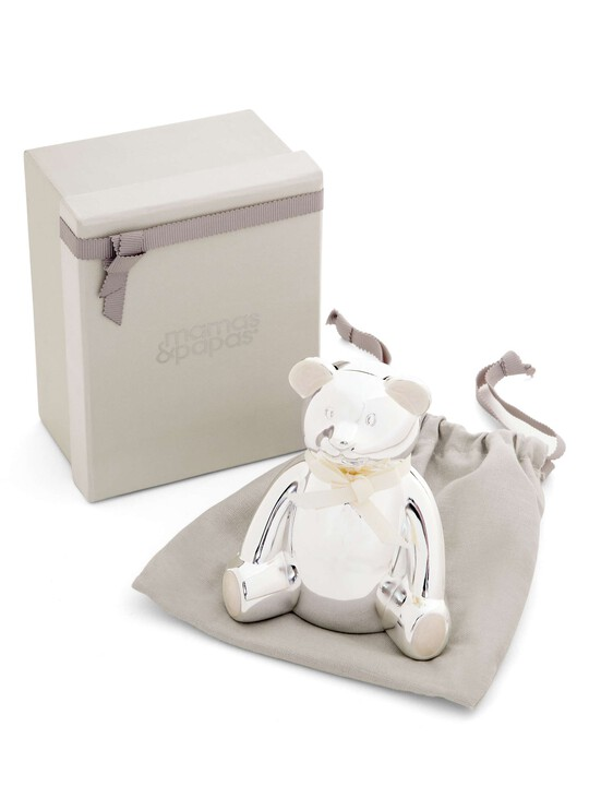 Silver Plated Bear Money Box image number 3