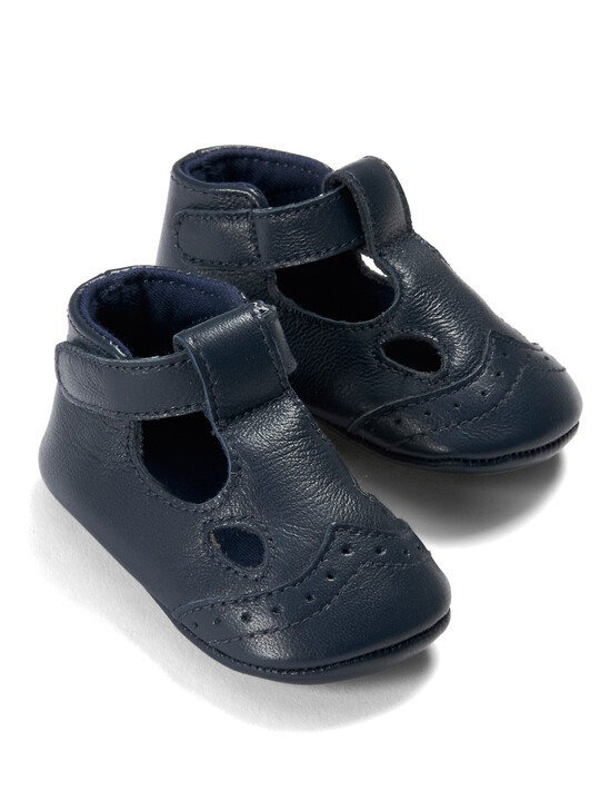 Navy Leather Shoes image number 5