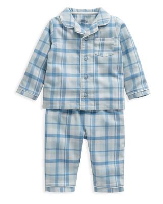 Blue Gingham Check Woven Pyjamas