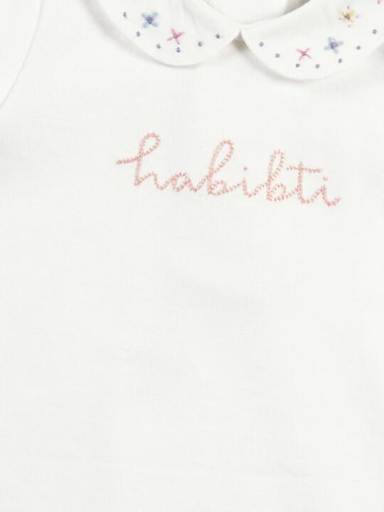 White Collared Slogan T-Shirt image number 3
