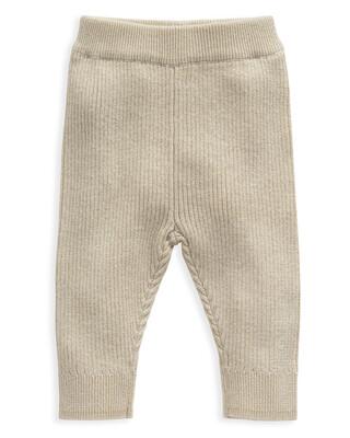 Gold Rib Knit Leggings
